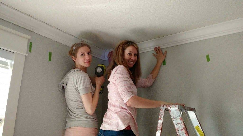 Installing Crown Molding in the Nursery
