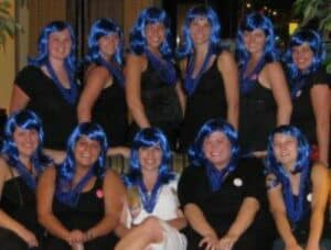 Blue Wig Bachelorette Party