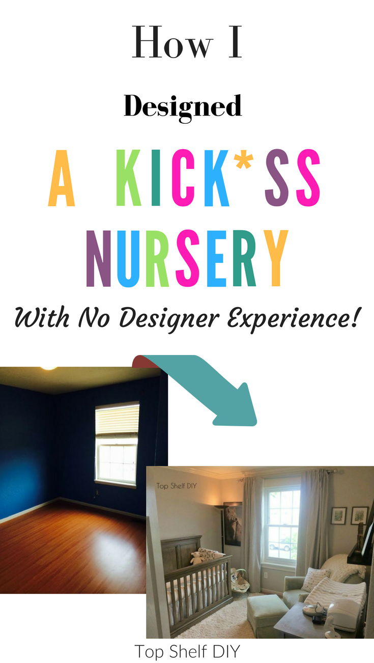 Included: all the tutorials I used to upgrade our spare bedroom to a beautiful boy's nursery! And you don't have to spend a lot for a great finished look! #redesign #beforeandafter #nursery #DIYnursery