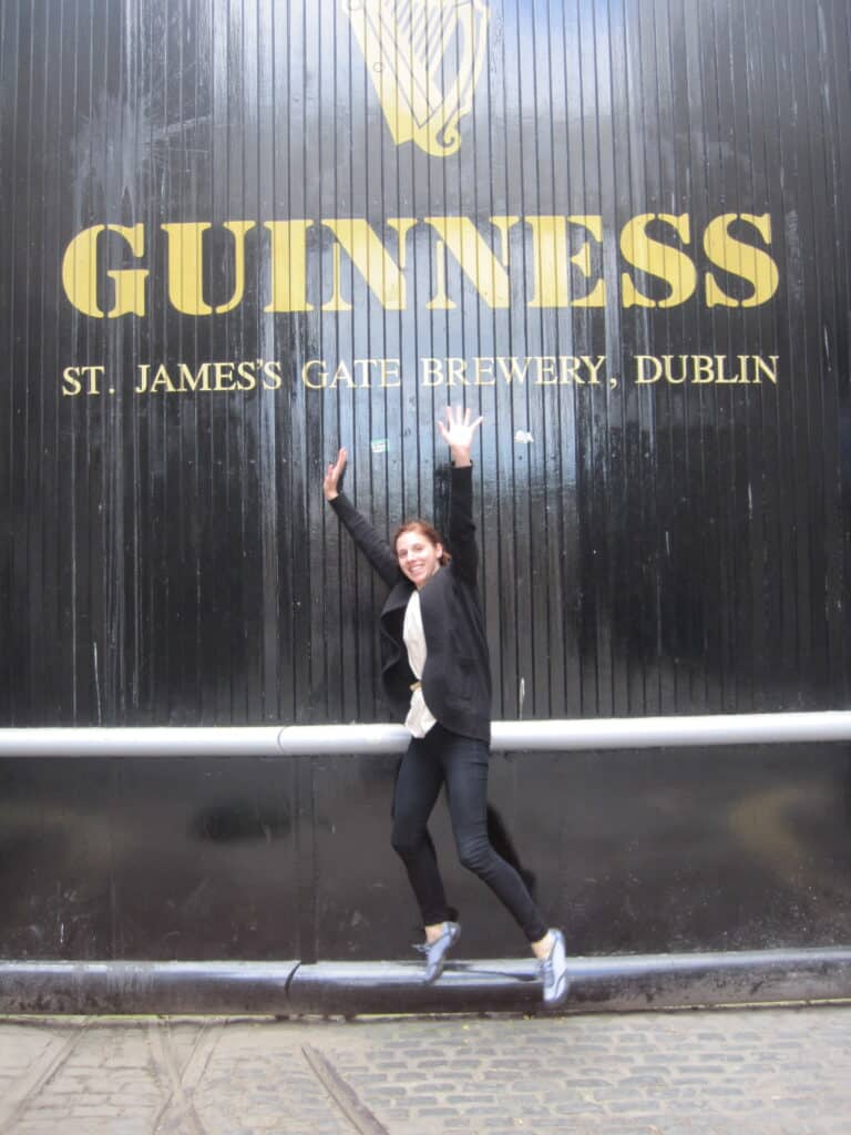 Erin at St. James Gate in front of Guinness Factory
