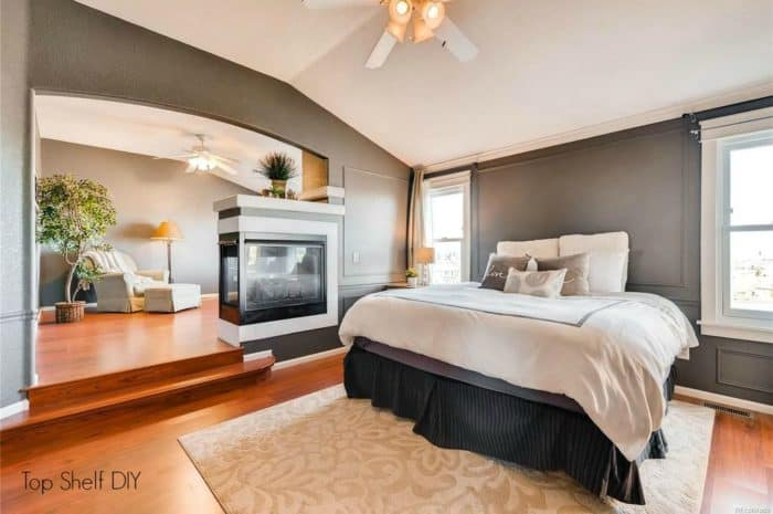 Denver House Tour: master bedroom Kendall Gray