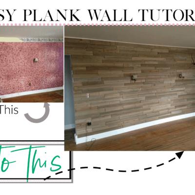 Easy Plank Wall Install