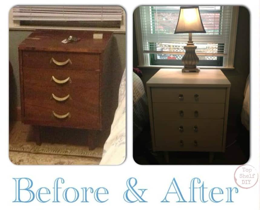 Night stand makeover