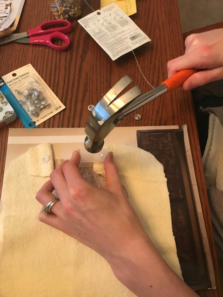 hammering using the plier kit