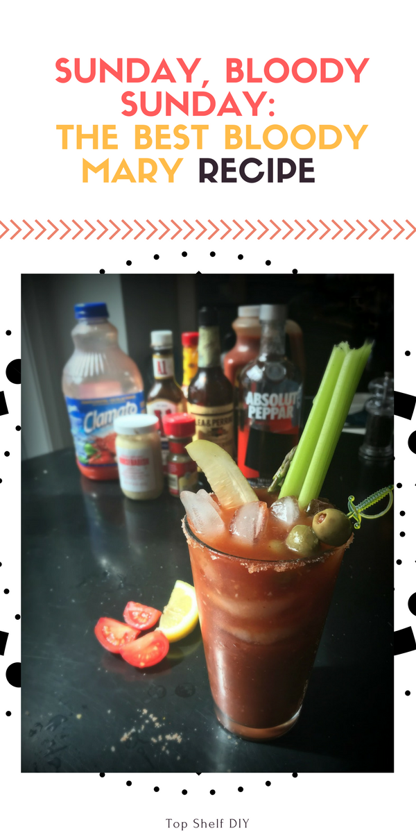 Ready for the best homemade Bloody Mary recipe? Here's a very easy one with lots of punches of style and flavor.