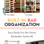 Pin this for Great Organizational Ikea Hacks for the Home Bar Series