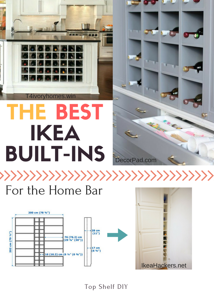Need a bar on a budget? These ikea bar hacks will give you high end design and a reason to celebrate.
