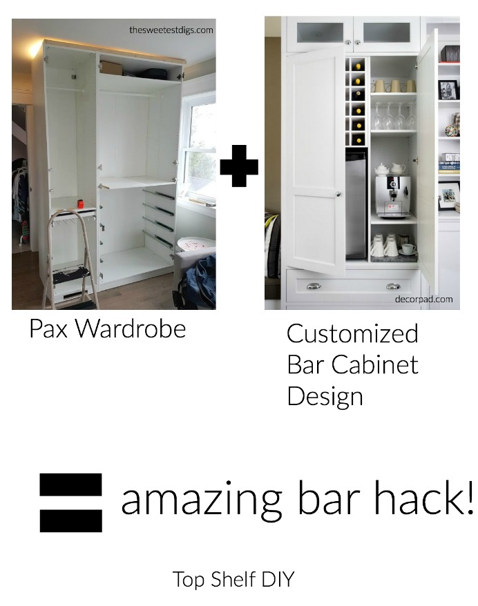 Pax Wardrobe would provide an excellent built in ikea bar hack opportunity!