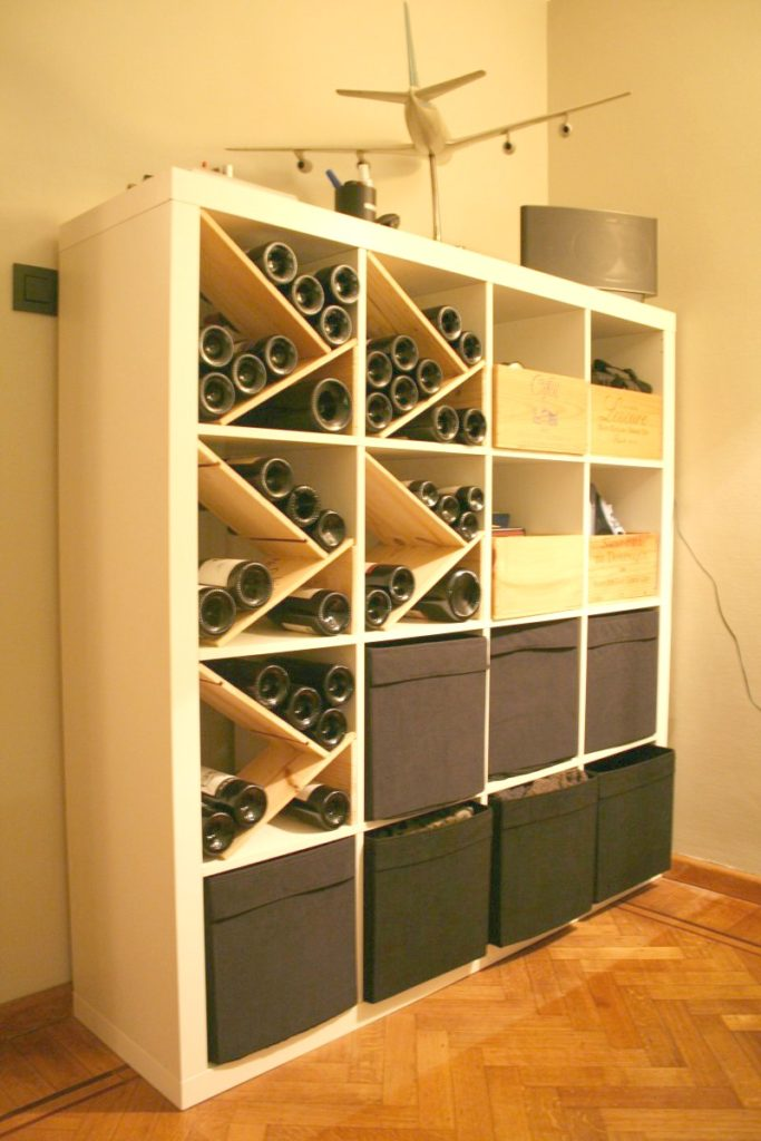 Option #4 Kallax or Expedit Wine Shelf Storage