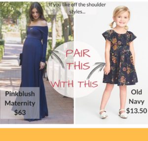 You can still get the Mommy and Me look without spending a fortune or going all out with the matchy-matchy!