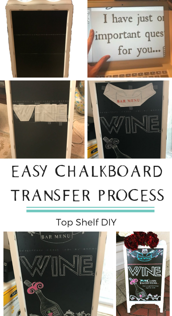 6 Steps to Getting a Chalkboard that looks like it was drawn by a professional. #chalkboard #chalktransfer