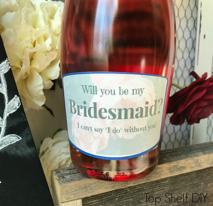 Customize your own DIY Wine labels for $3 and a bottle of wine!