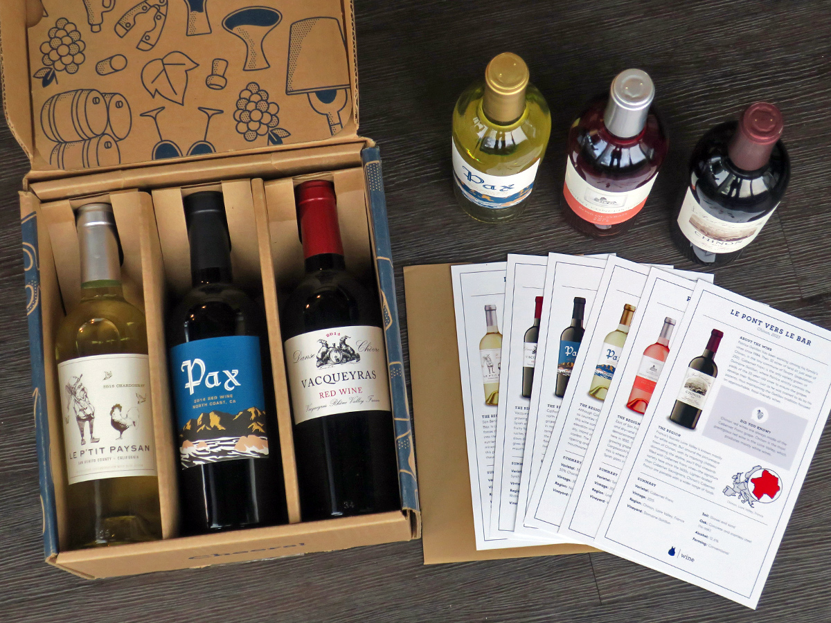 what a blue apron wine box looks like