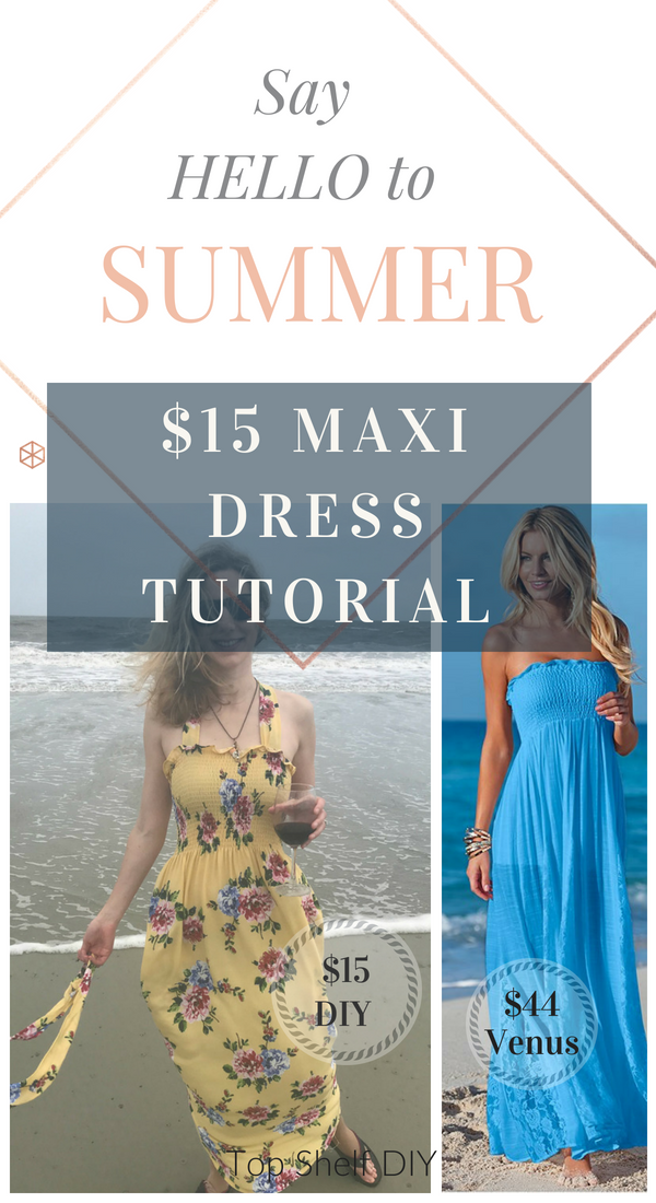 Make your own maxi dress for your beach excursions using the single-seam fabric from Joanns! #simplesewing #maxidresspattern