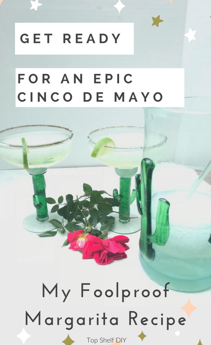 Try this restaurant-worthy margarita recipe for your next Cinco De Mayo gathering! #cincodemayo #margarita