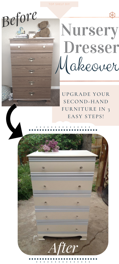 On a baby budget? No problem. Here's my three step process for upgrading nursery furniture. Easy enough for a pregnant woman to tackle! #diyfurniture