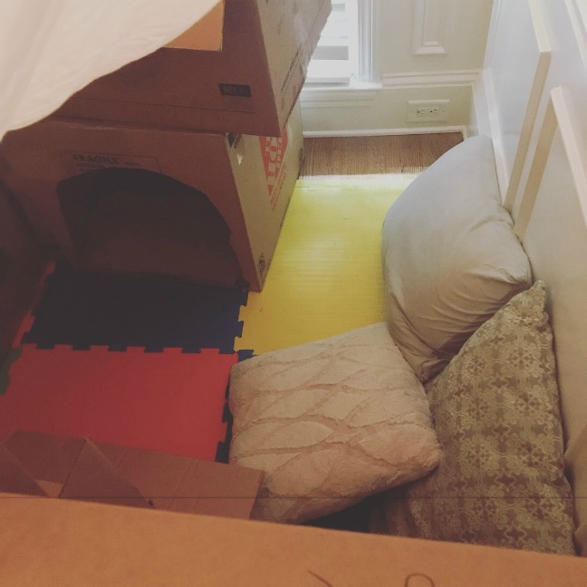 build a free cardboard fort following these instructions!