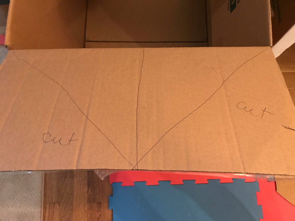 5 easy steps to a cardboard fort