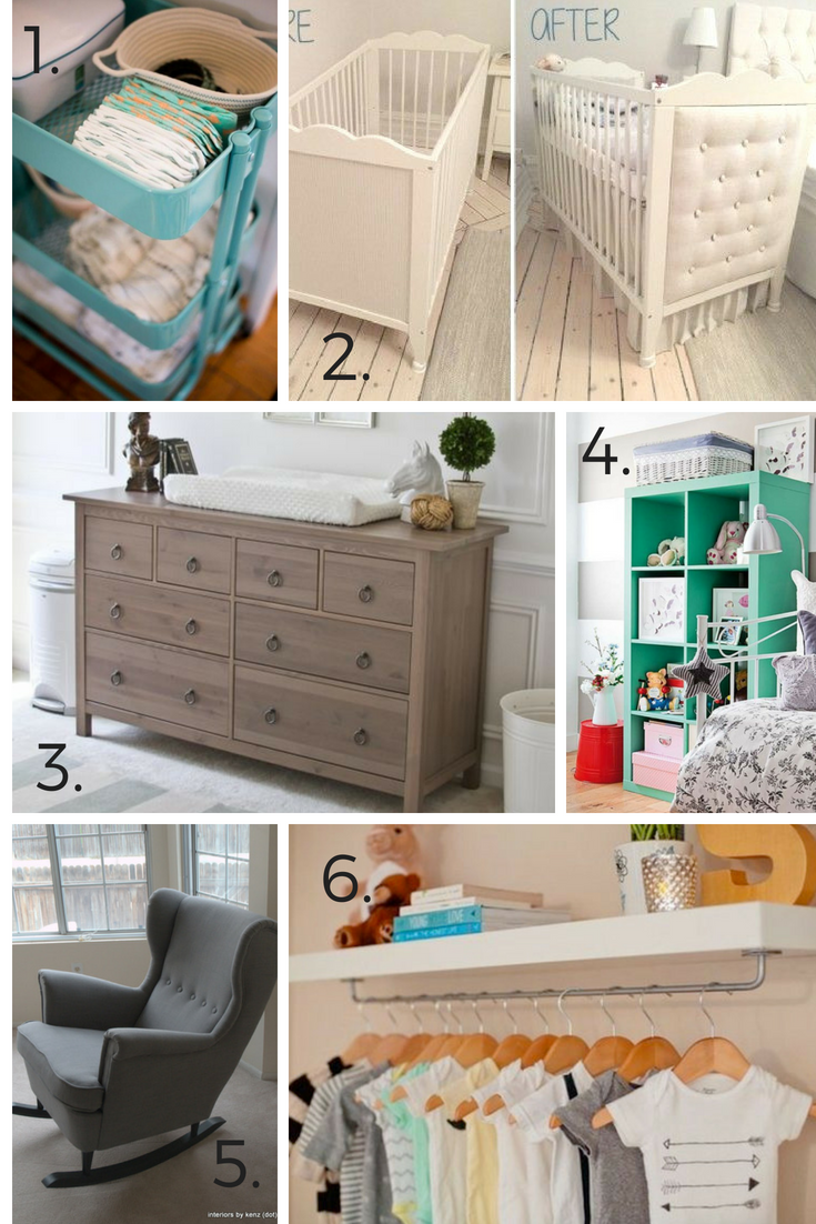 Ikea has some of the best options for decorating your nursery on a budget! 50+ Ways to Decorate a Nursery on a Budget.