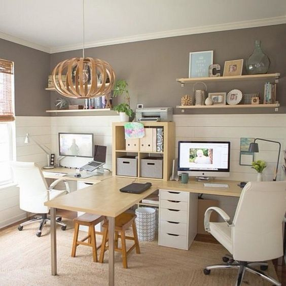 His and Hers Farmhouse Office
