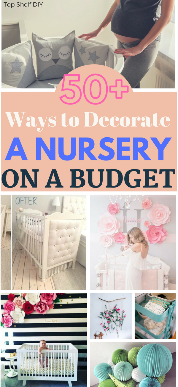 Need some nursery inspiration? How about 50? Get all of your ideas and tutorials in one place. #nurseryonabudget #nurserydecor #diynursery