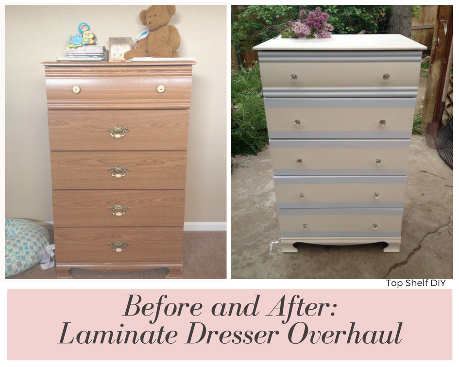 Give an old thrift store dresser a facelift for a cheap nursery decor option! #cheapnurserydecor 50+ Ways to Decorate a Nursery on a Budget. Wall decor, lighting, paper crafts and so much more! Get all the tutorials and inspiration here.