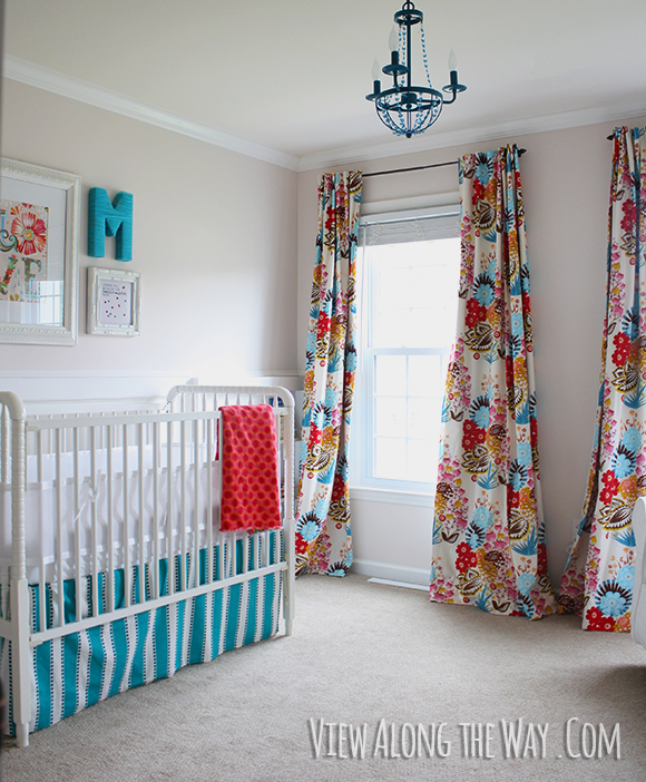make your own nursery curtains for a fraction of the price! 50+ ways to decorate a nursery on a budget