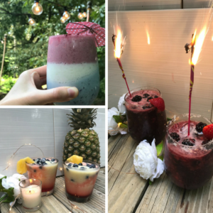 Get your drink on this 4th with three original spiked smoothie recipes! #july4th #4thofjuly #cocktails