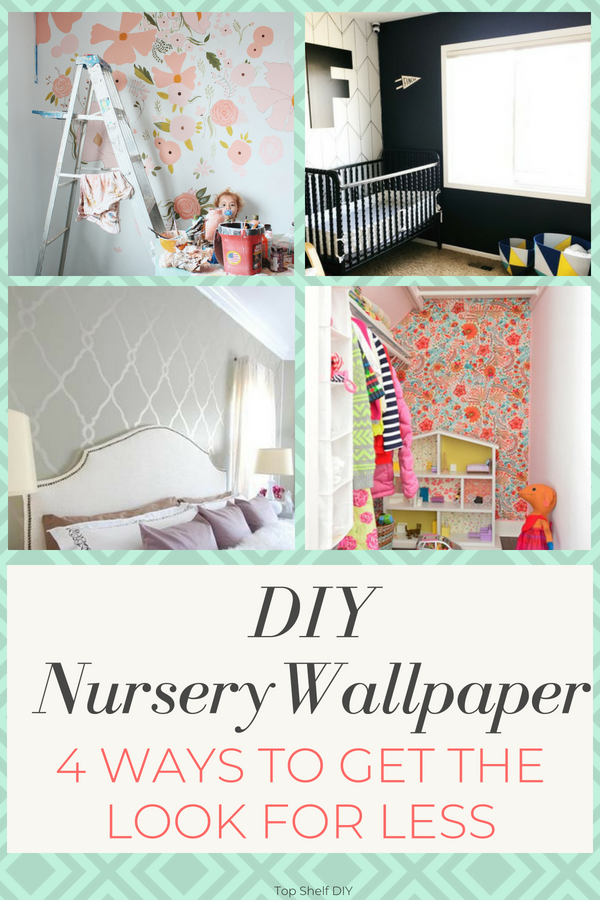 Imitating wallpaper is a cheaper, less permanent way to achieve the same look. This and 50+ Other Ways to Decorate a Nursery on a Budget.