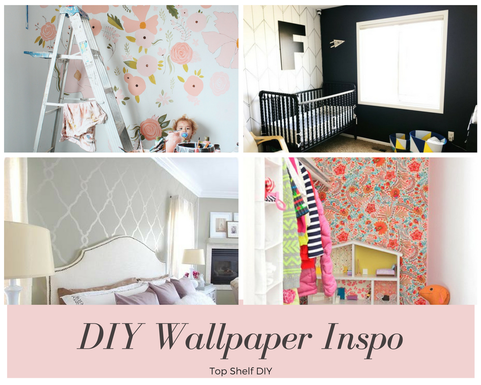 DIY Wallpaper for nursery on a budget. 50+ Ways to Decorate a Nursery on a Budget. Wall decor, lighting, paper crafts and so much more! Get all the tutorials and inspiration here.