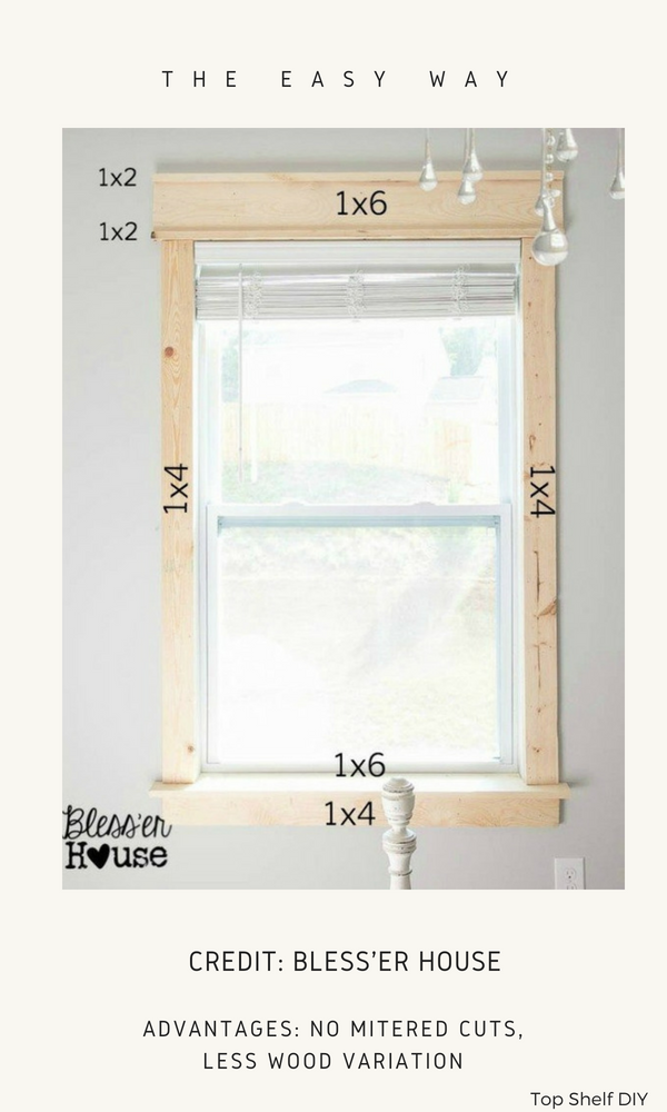 Here are all the options to choose from when deciding to frame out your windows