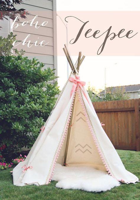 DIY Teepee 50+ ways to decorate a nursery on a budget