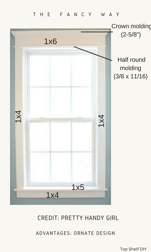 One of four options to choose from when deciding on craftsman trim