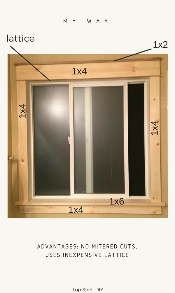 DIY Craftsman trim; all of your options before you rip out the sill!