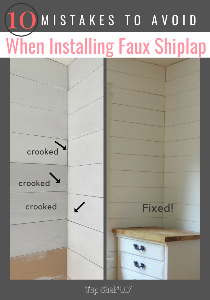 How to troubleshoot your next shiplap install. Pin for your next DIY and home improvement project! #shiplap #farmhousestyle