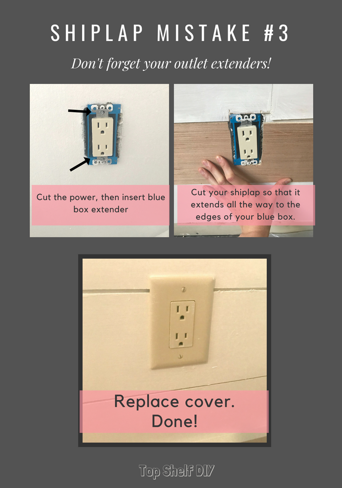DIY home improvement: make sure to grab outlet extenders. #diytipsandtricks