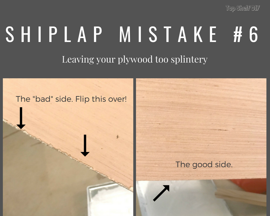 Sand, sand, sand those plywood shiplap boards down! DIY Home improvement tip #6.