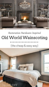 Wainscoting is easier than it looks because there's no demo involved and you only need a miter box. Here's how I accomplished the Restoration Hardware look for only $150!