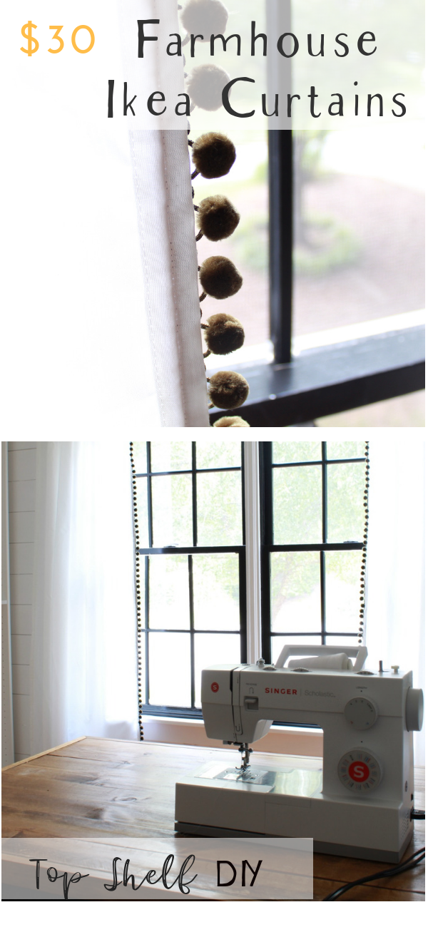 Follow this tutorial to inexpensively spruce up your Ikea sheers with pom pom trim! ikeacurtains