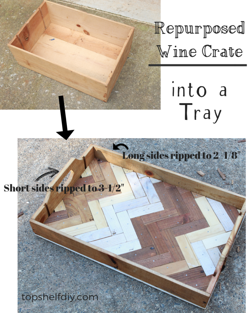 Turn your wine crate into a serving tray