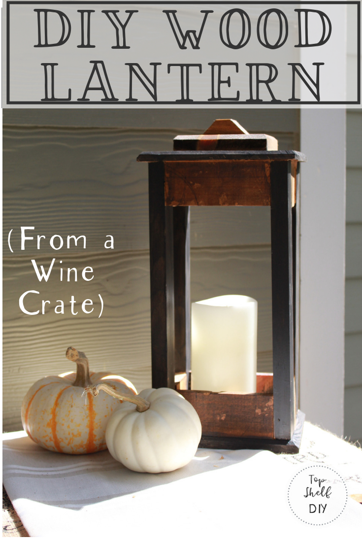 Easy Woodworking Project: turn an old wine crate into beautiful rustic decor! #woodworking #winecrate #upcycle #repurposed