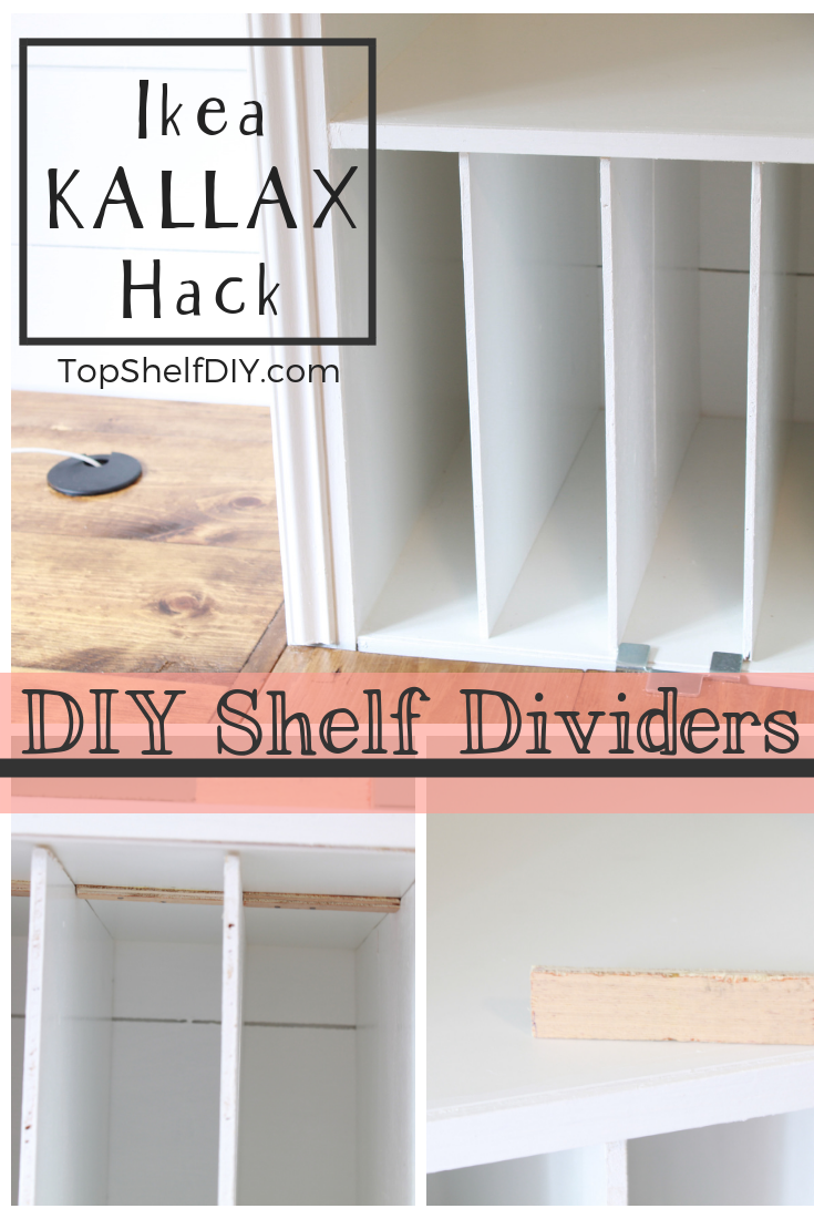 Add DIY Shelf dividers made from leftover plywood and a few scraps! #ikeahack