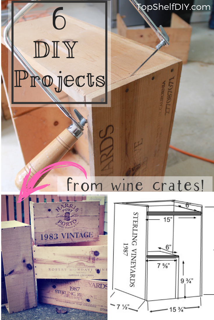 6 Ways to Repurpose an Old Wine Crate; Let your imagination run wild with these woodworking options. #falldecor #woodworking