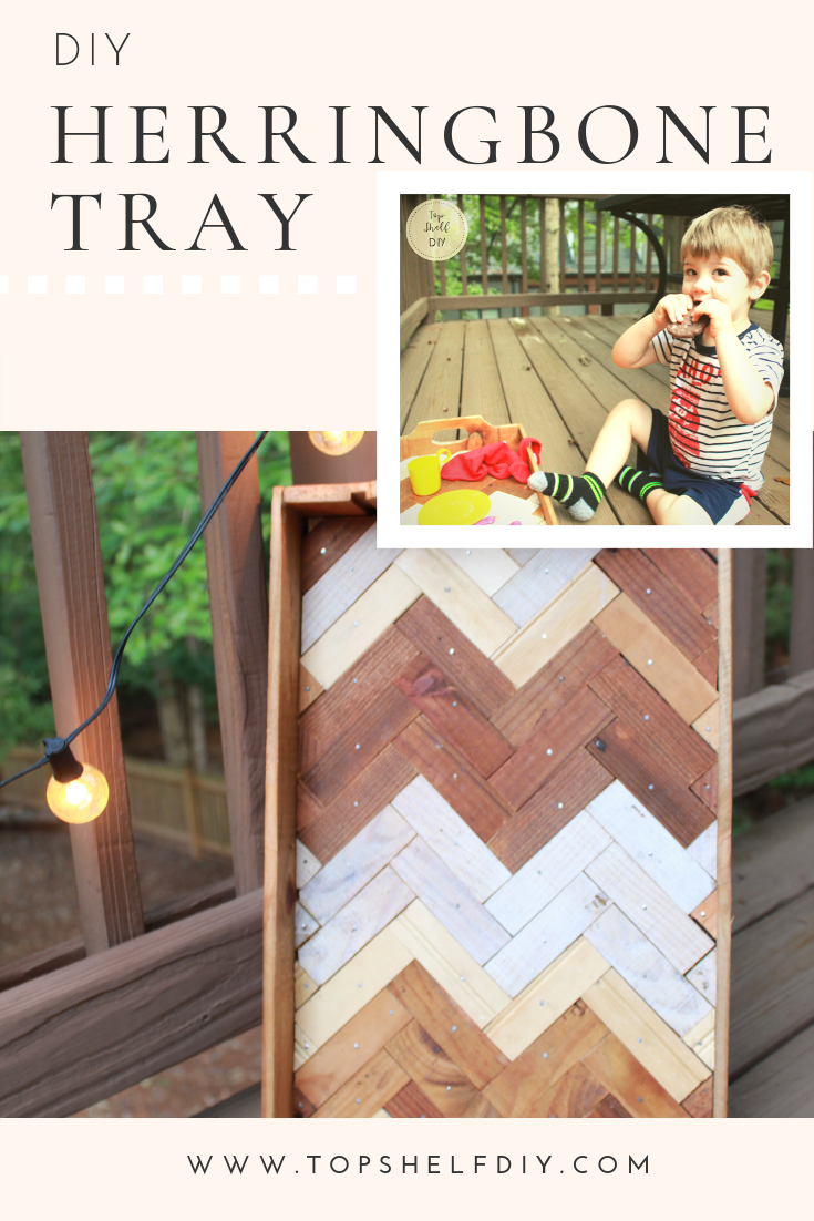 Turn an old wine crate into a family friendly tray - full tutorial!