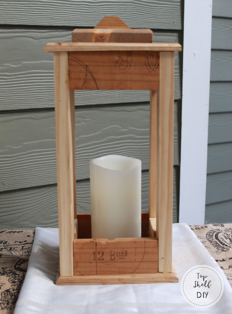 Make a beautiful lantern from an old wine crate!