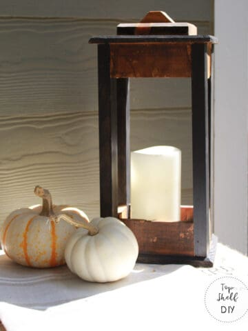 Woodworking tutorial for a rustic lantern; make a lantern from a repurposed wine crate!