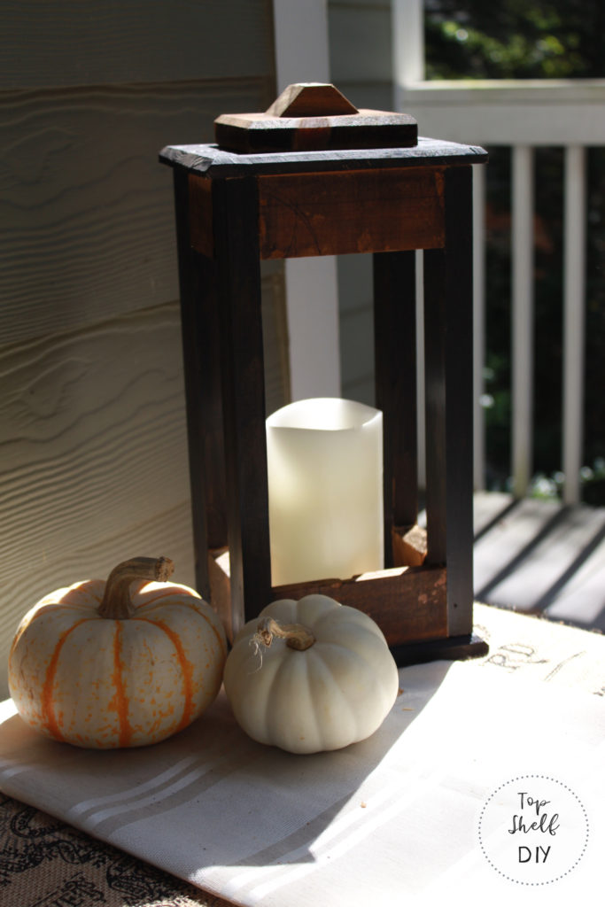 how to make a wood lantern from an old wine crate! #woodworking #diydecor #falldecor