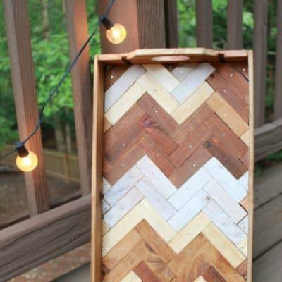 The Wine Crate Files : Make a Herringbone Tray