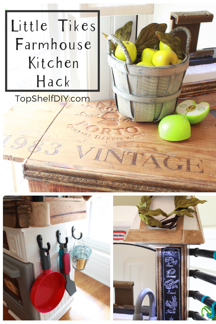 You don't have to settle for builder grade Fisher Price. #farmhousekitchen #diymom