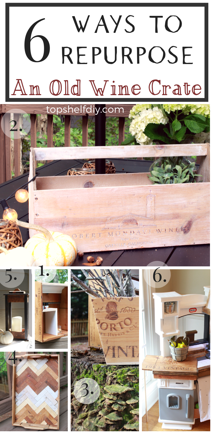 Start with a wine crate, and let your imagination be your guide. #winecrate #repurposed #diydecor